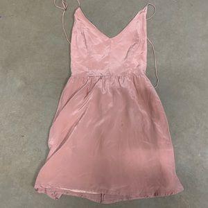Myne Ashley Ann | Revolve Pink Cutout Mini Dress 0